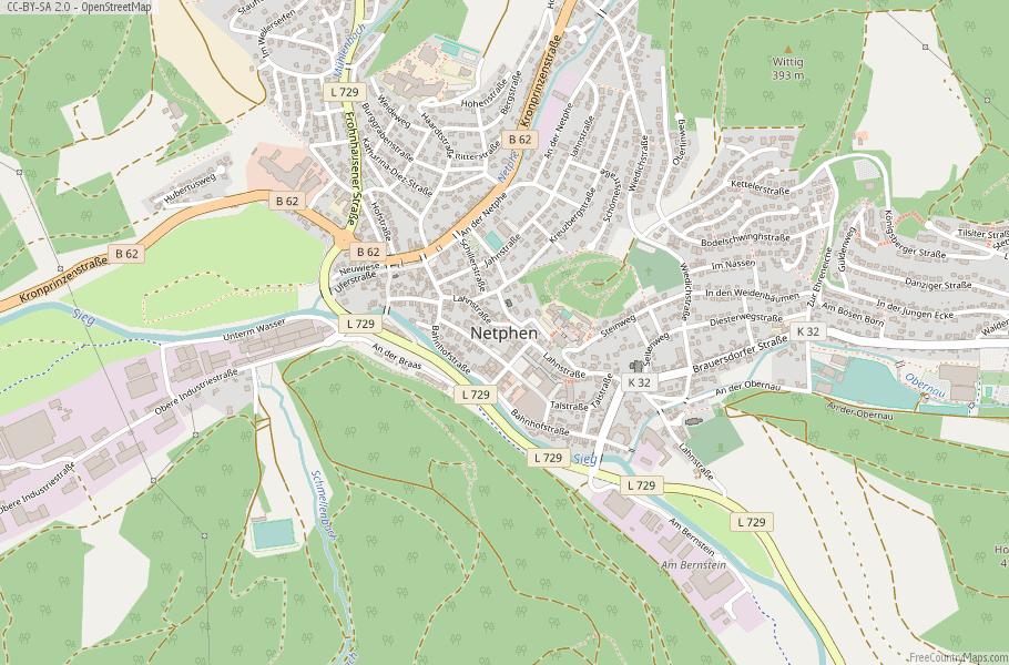 Netphen Germany Map