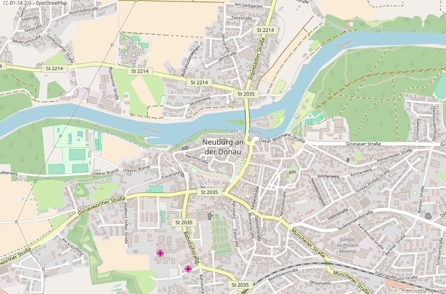 Neuburg an der Donau Germany Map