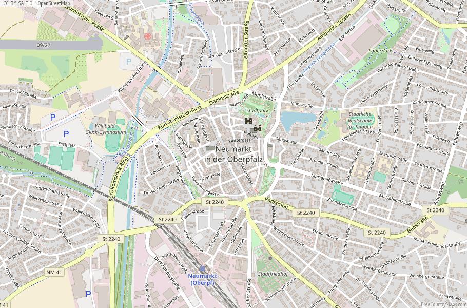Neumarkt in der Oberpfalz Germany Map