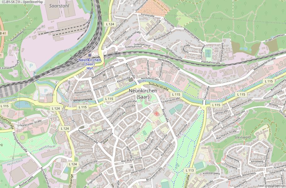 Neunkirchen (Saar) Germany Map