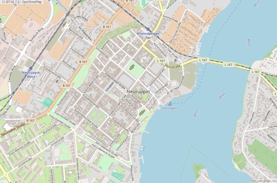 Neuruppin Germany Map