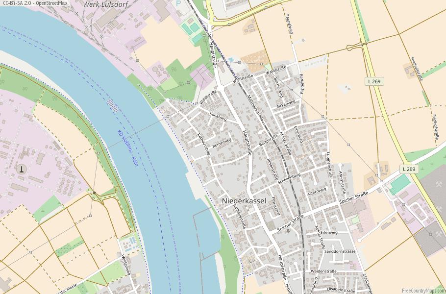 Niederkassel Germany Map