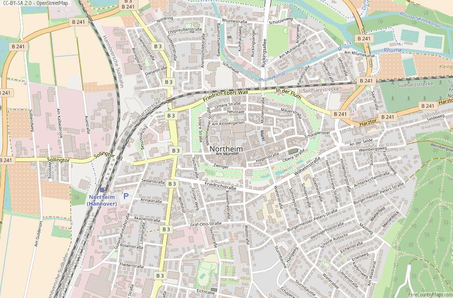 Northeim Germany Map