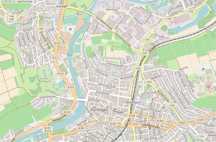 Nürtingen Germany Map