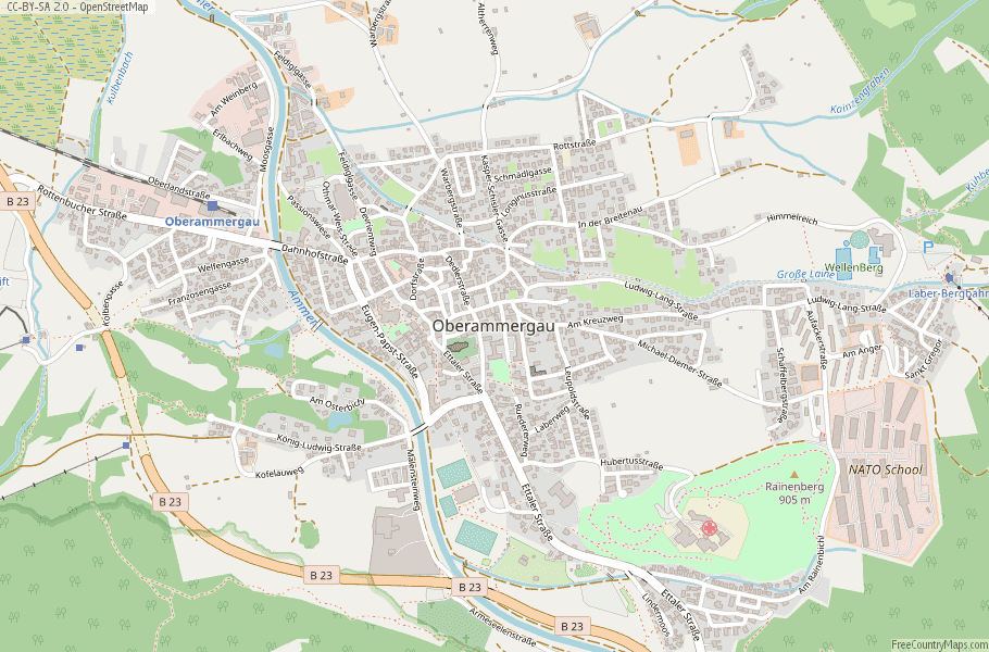 Oberammergau Germany Map.Oberammergau Map Germany Latitude Longitude Free Maps