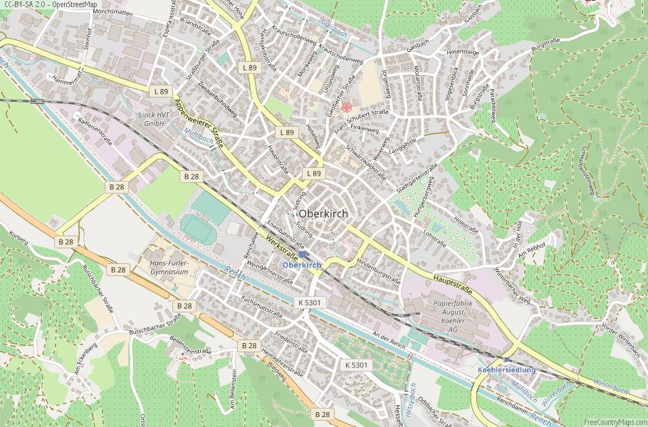 Oberkirch Germany Map