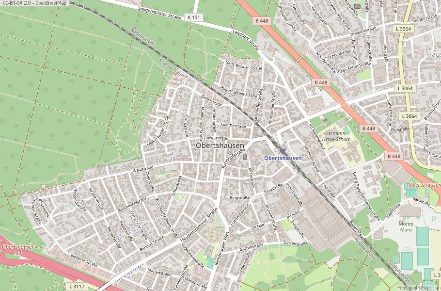 Obertshausen Germany Map