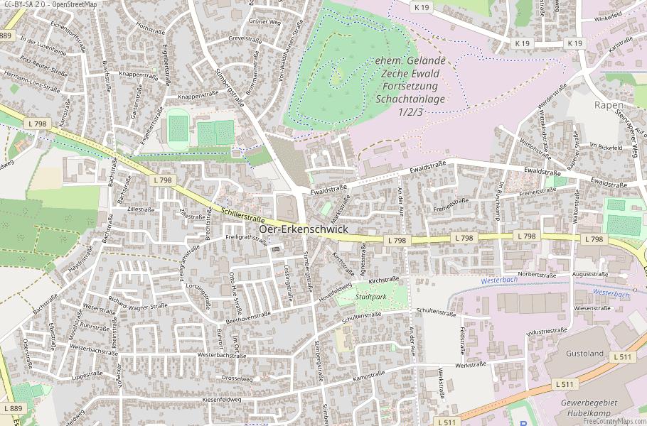 Oer-Erkenschwick Germany Map