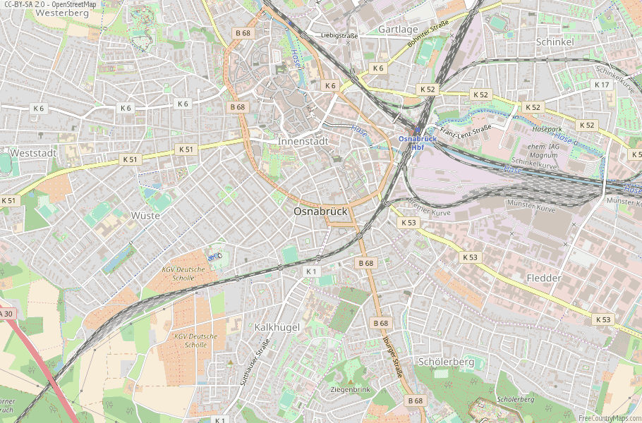 Osnabrück Germany Map