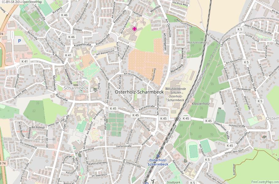 Osterholz-Scharmbeck Germany Map