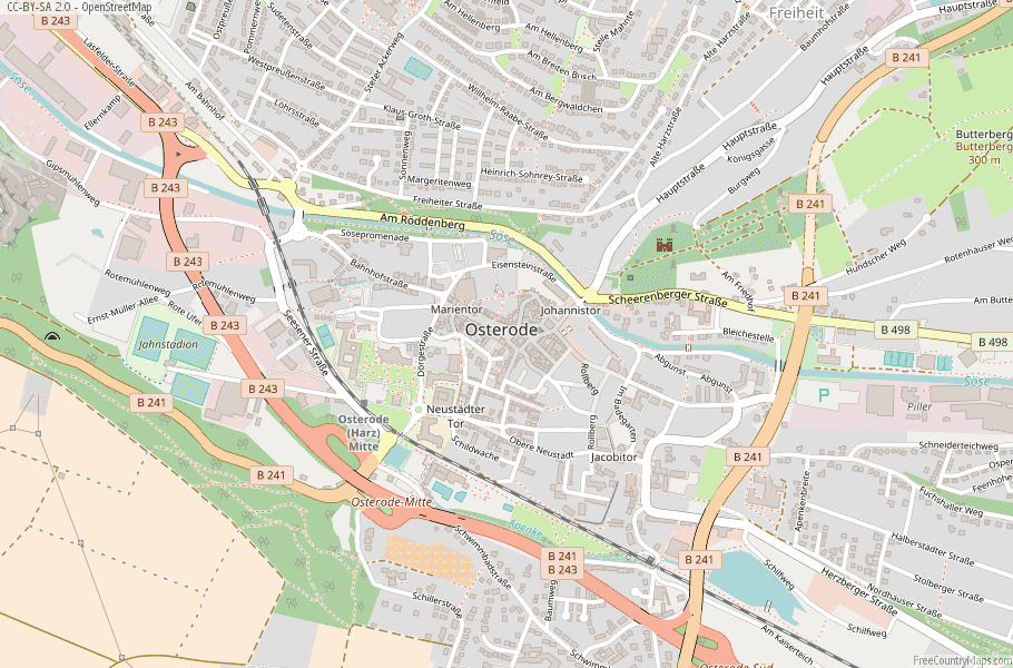 Osterode Germany Map