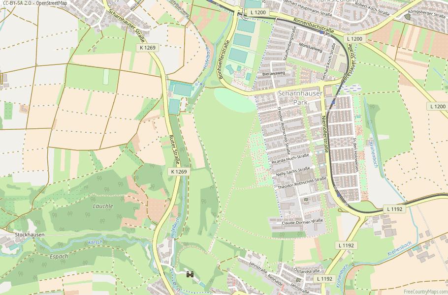 Ostfildern Germany Map