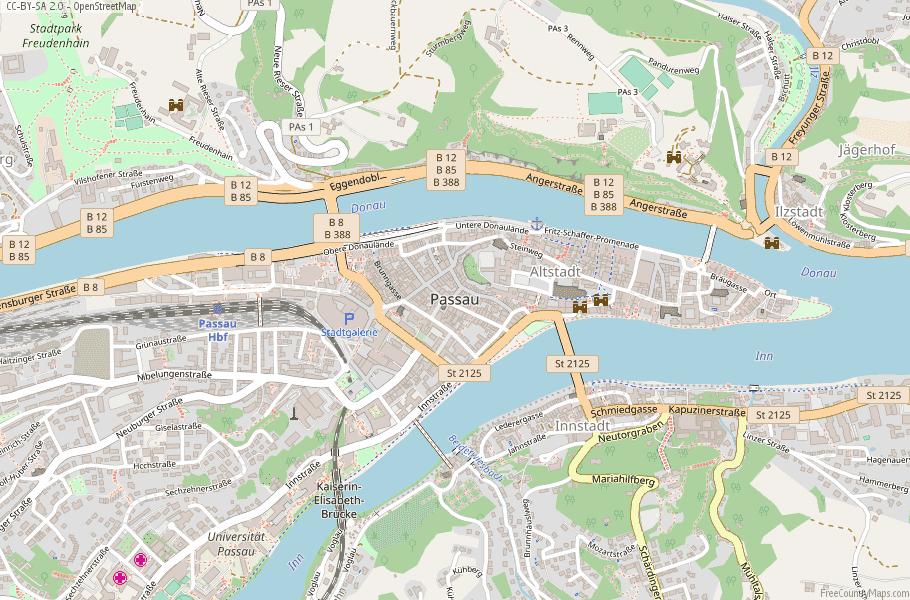 Passau Germany Map
