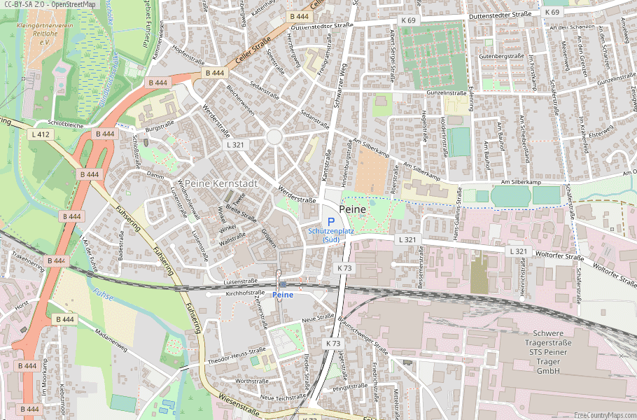 Peine Germany Map