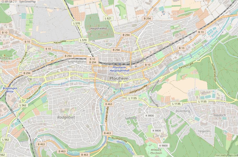 Pforzheim Germany Map