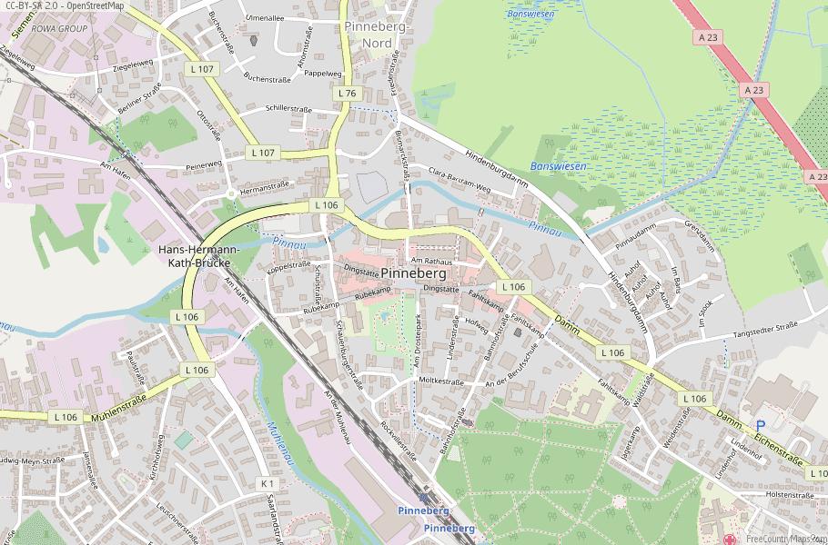 Pinneberg Germany Map