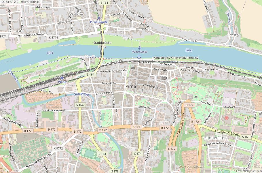 Pirna Germany Map