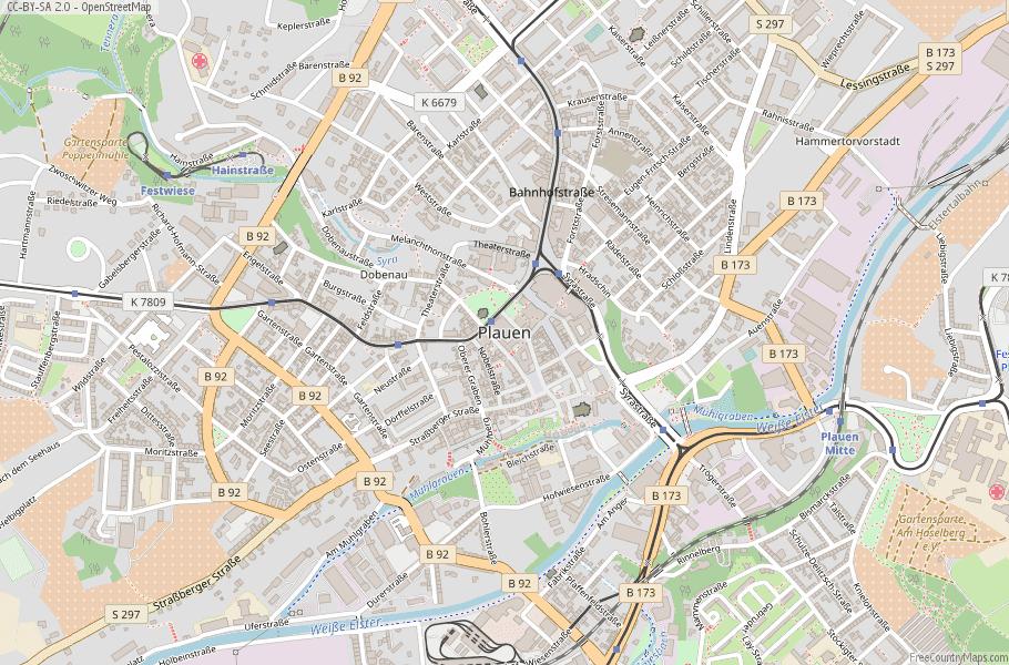 Plauen Germany Map