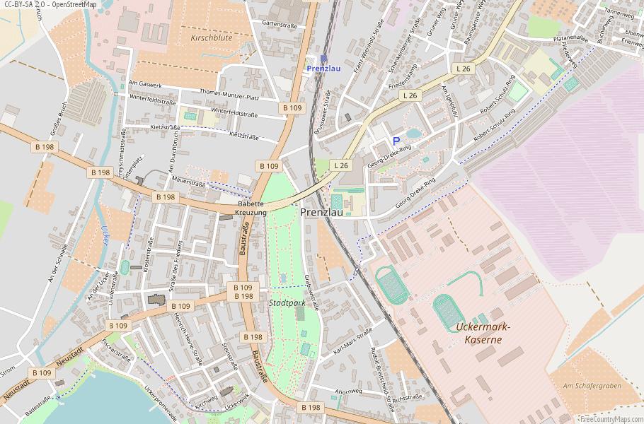 Prenzlau Germany Map