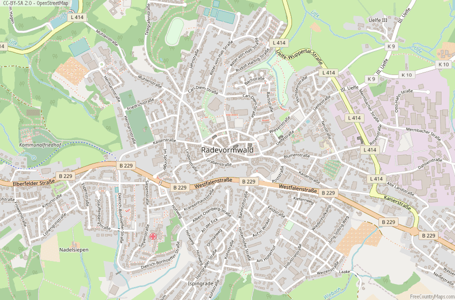 Radevormwald Germany Map