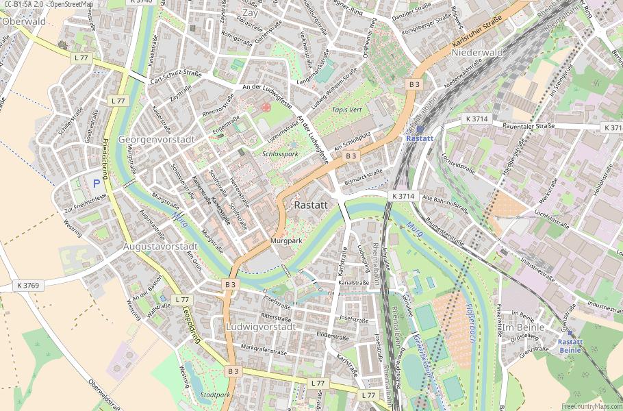 Rastatt Germany Map
