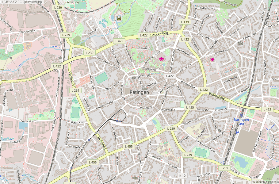 Ratingen Germany Map