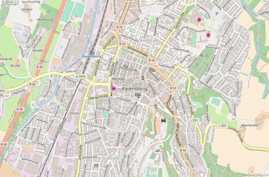 Ravensburg Germany Map
