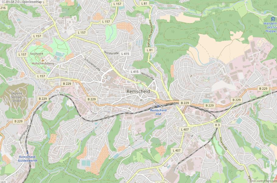 Remscheid Germany Map