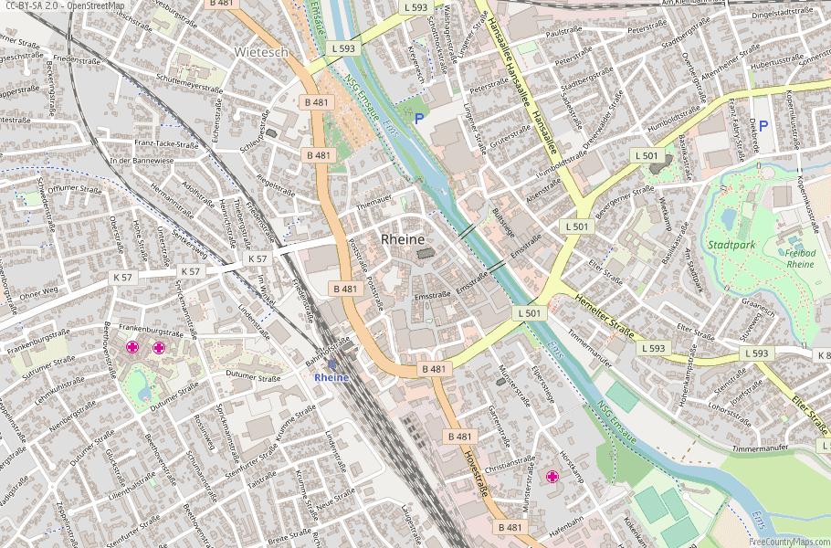 Rheine Germany Map