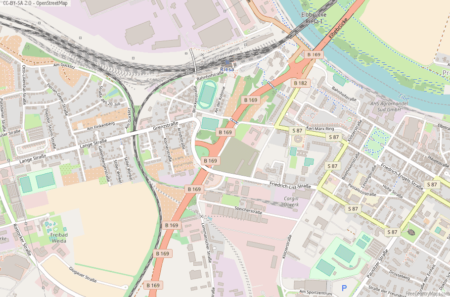Riesa Germany Map