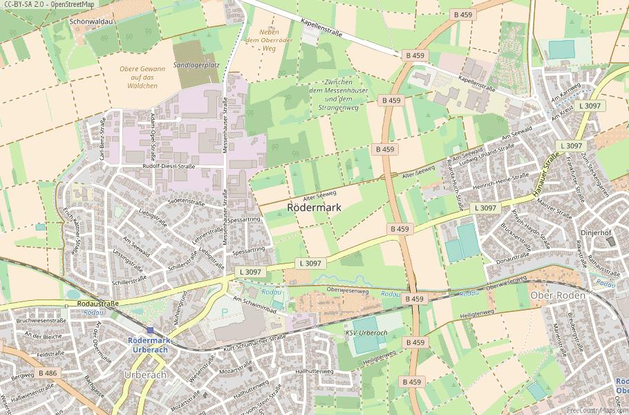 Rödermark Germany Map