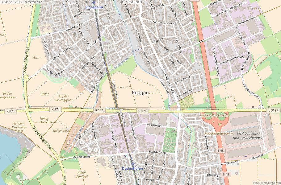 Rodgau Germany Map