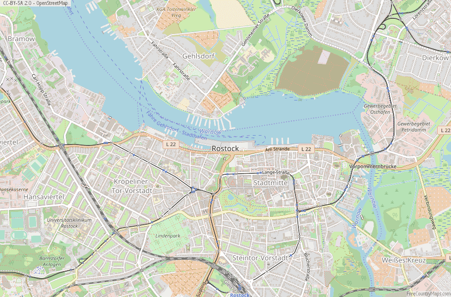Rostock Germany Map