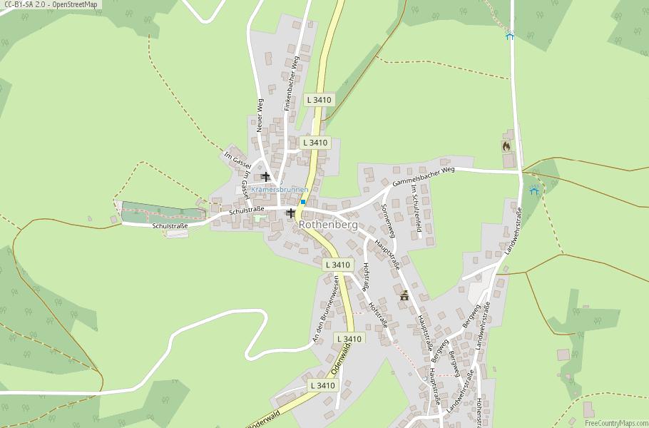 Rothenberg Map Germany Latitude Longitude Free Maps