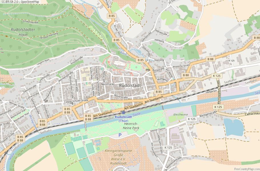 Rudolstadt Germany Map