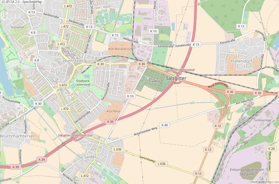 Salzgitter Germany Map
