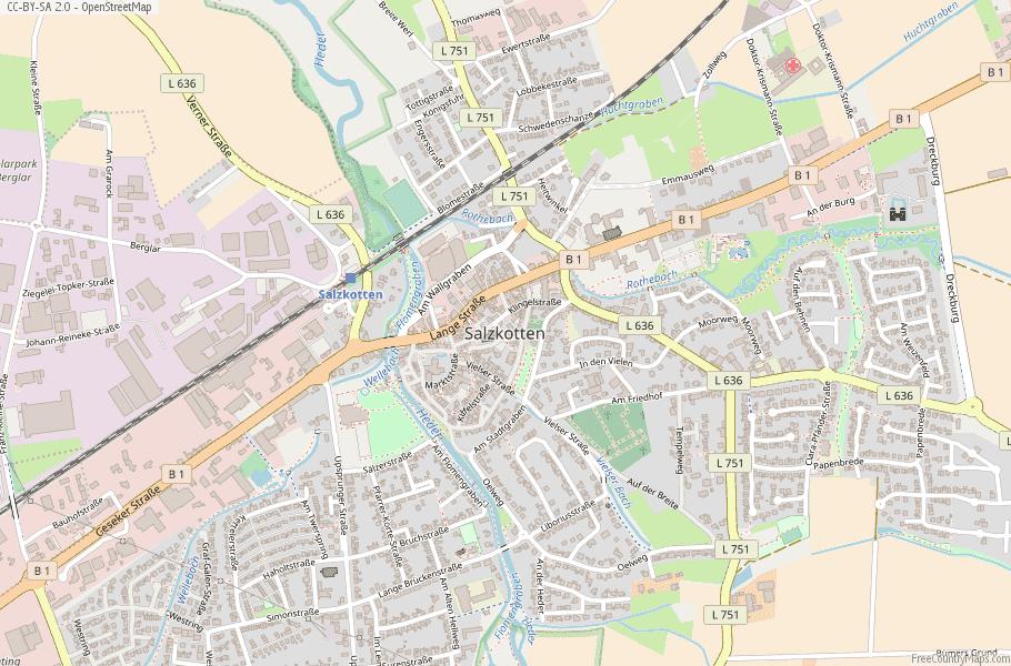 Salzkotten Germany Map