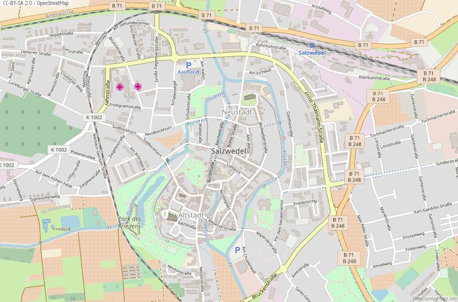 Salzwedel Germany Map