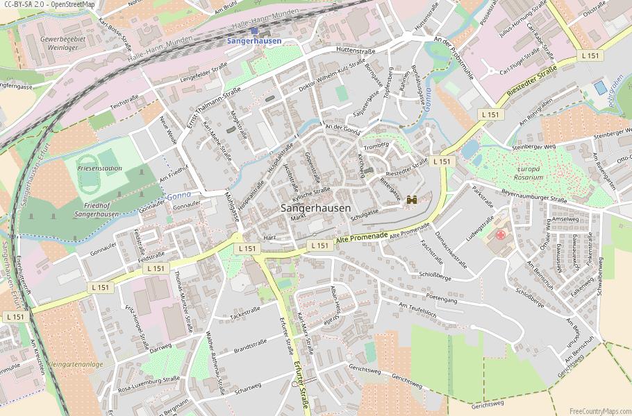 Sangerhausen Germany Map