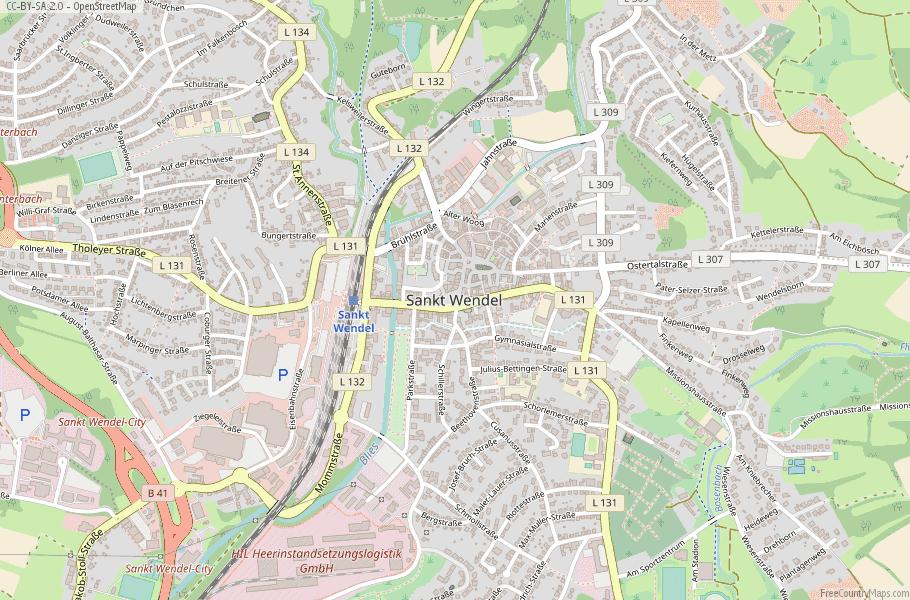 Sankt Wendel Germany Map
