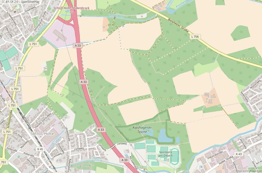 Schloß Holte-Stukenbrock Germany Map