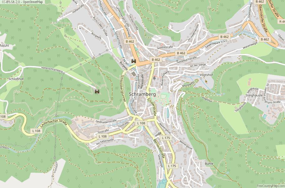 Schramberg Germany Map