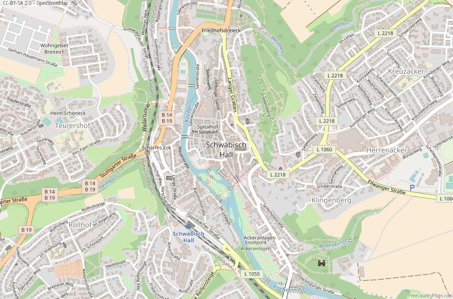 Schwäbisch Hall Germany Map