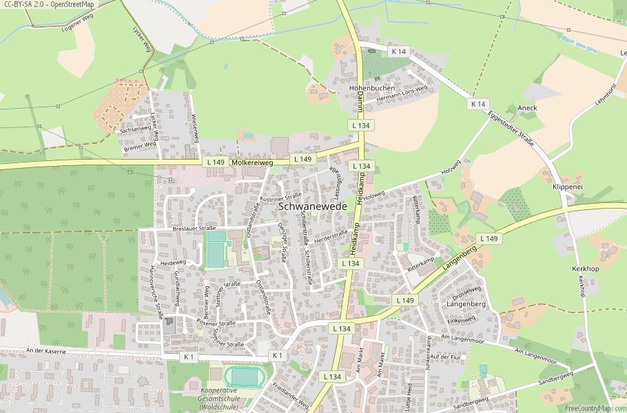 Schwanewede Germany Map