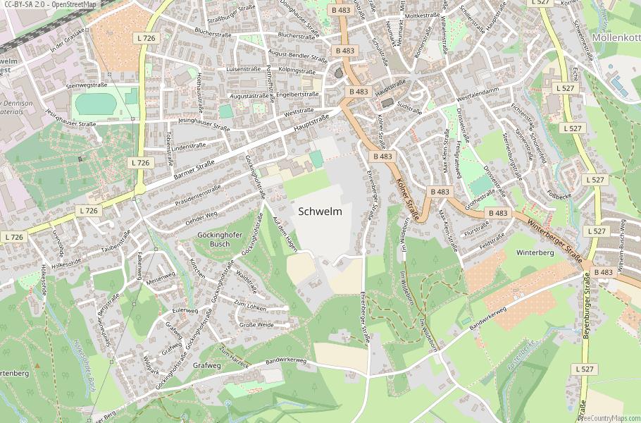 Schwelm Germany Map