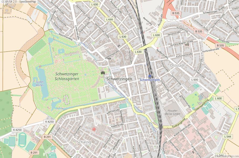 Schwetzingen Germany Map