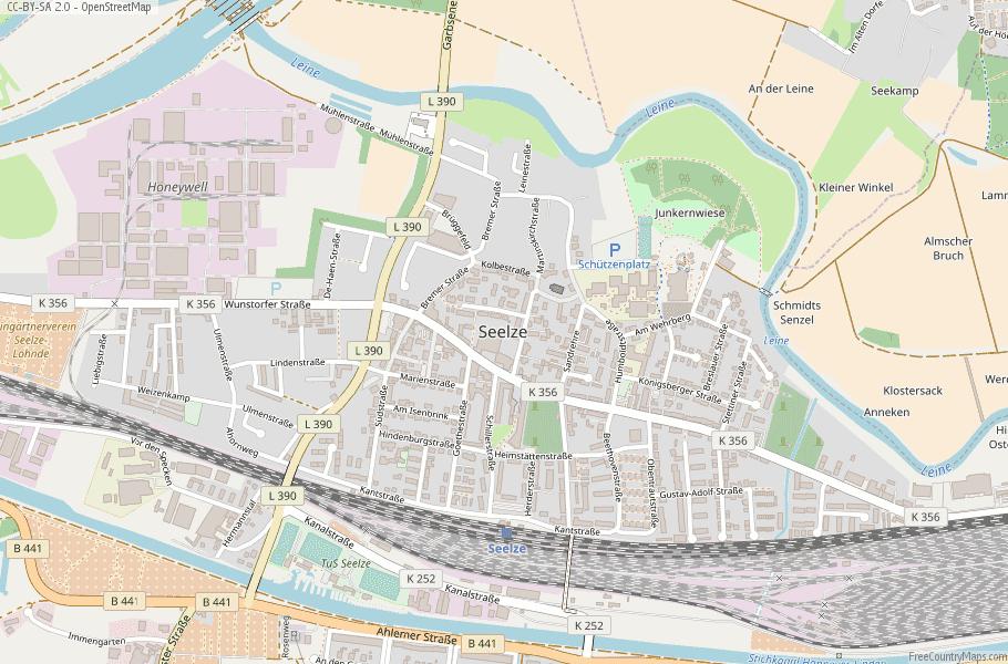 Seelze Germany Map