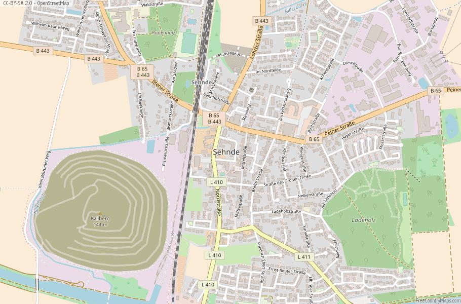 Sehnde Germany Map