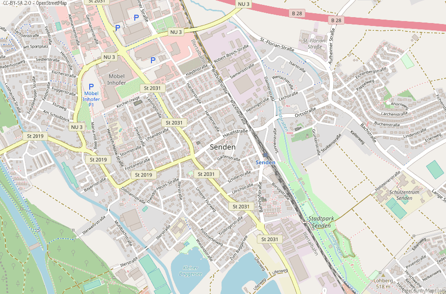 Senden Germany Map