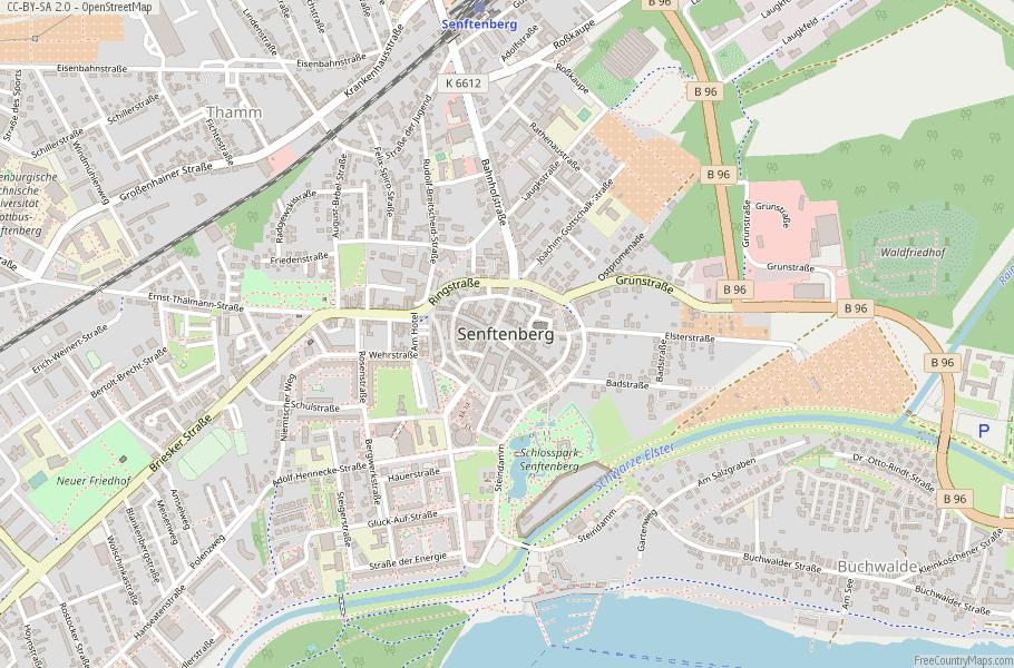 Senftenberg Germany Map